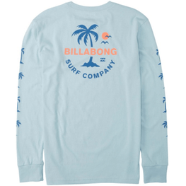 Billabong Vacation Coastal Blue Long Sleeve Tee Shirt