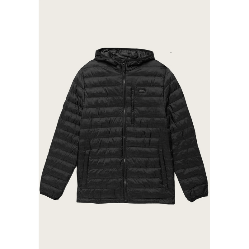 o'neill mens black packable jacket