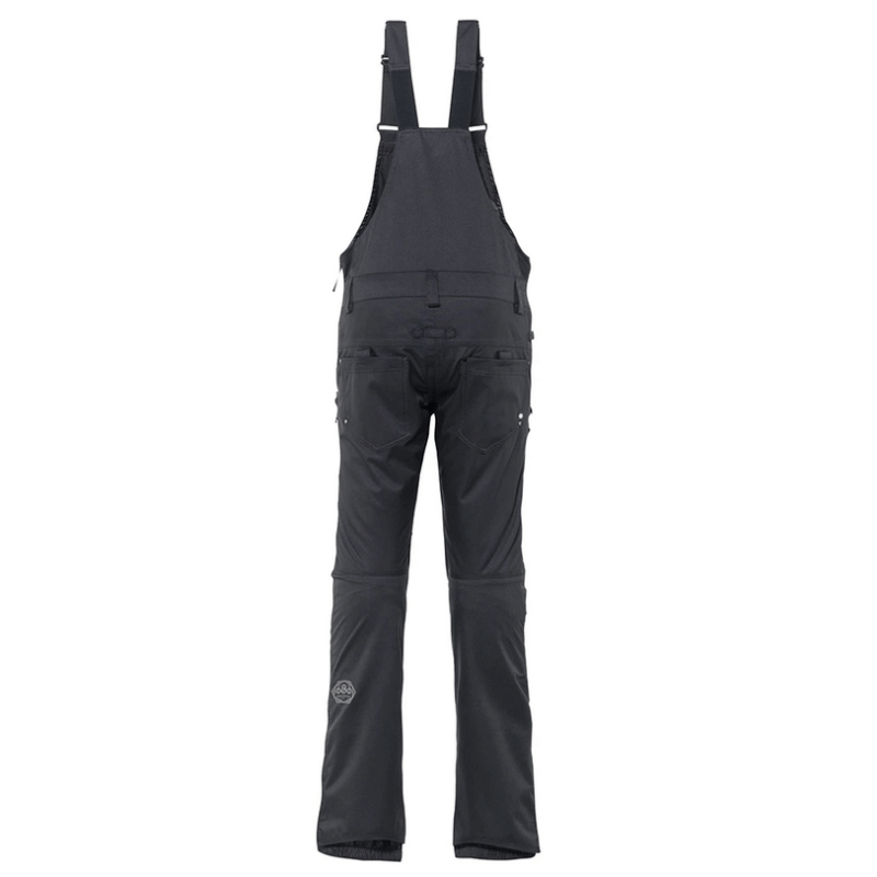 black magic womens 686 black snow bibs