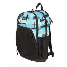 billabong backpadk solid black botton with aqua print top
