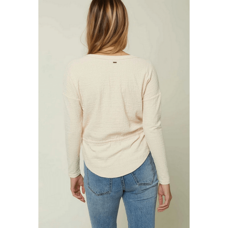 o'neill long sleeve knit top