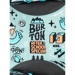 burton kids snowboard with logo in middle