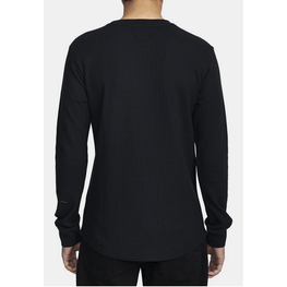 waffle knit mens long sleeve shirt rvca