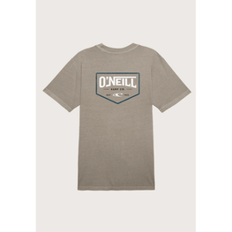 oneill mens light grey tee shirt with large logo on back