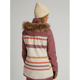 stripe womens burton lelah snow jacket