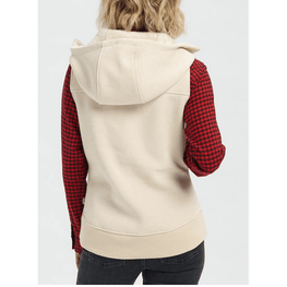 burton cream fleece vest