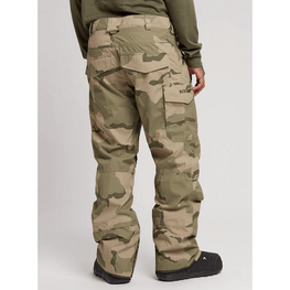 mens covert burton snow pants with flap pockets on back camo