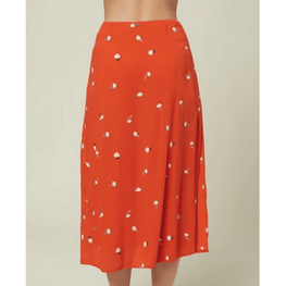 woven red print skirt by oneill