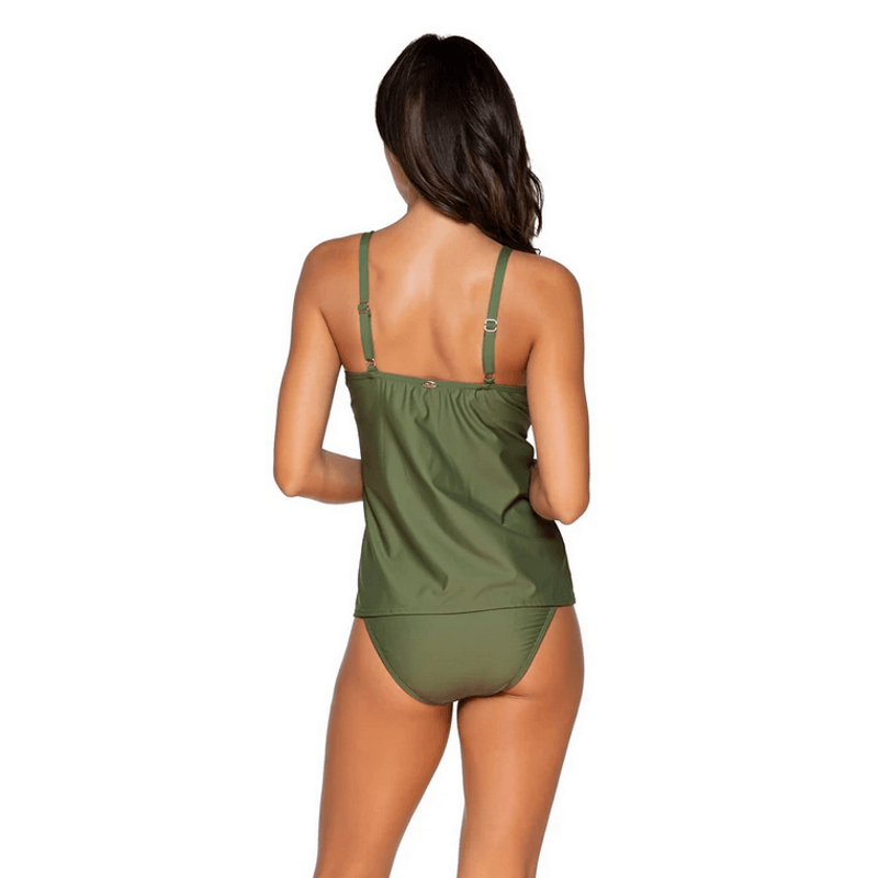 olive sunsets tankini with adjustable straps