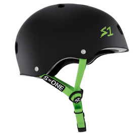 bright green straps on s one helmet