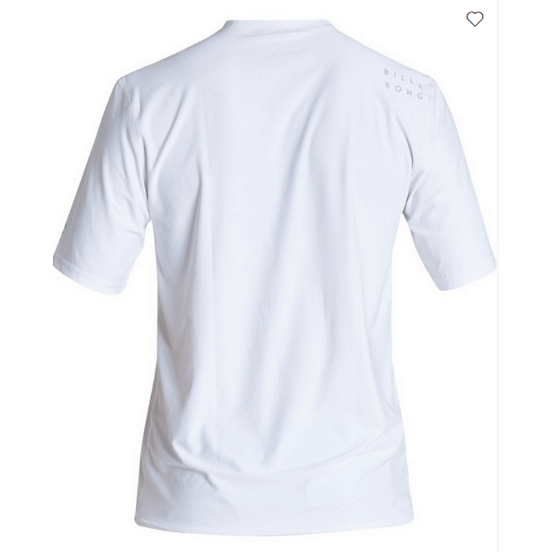 billabong mens white sun protection shirt