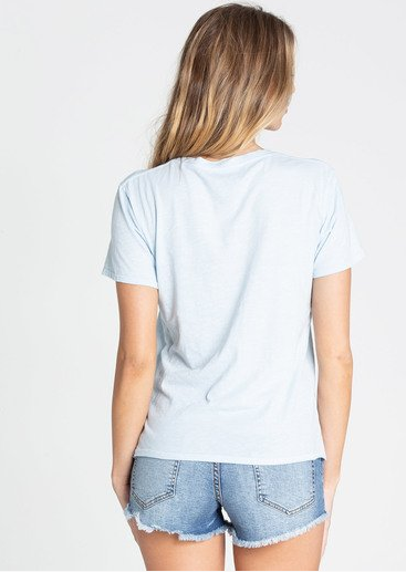 Billabong Good Vibes Womens Pool Blue Tee