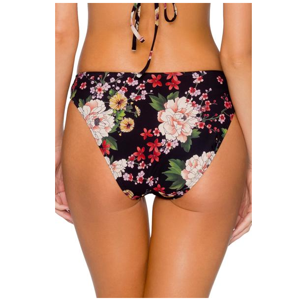 Sunsets Sakura Fields Womens Black Wild Thing Bikini Bottom