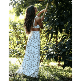 billabong floral maxi skirt