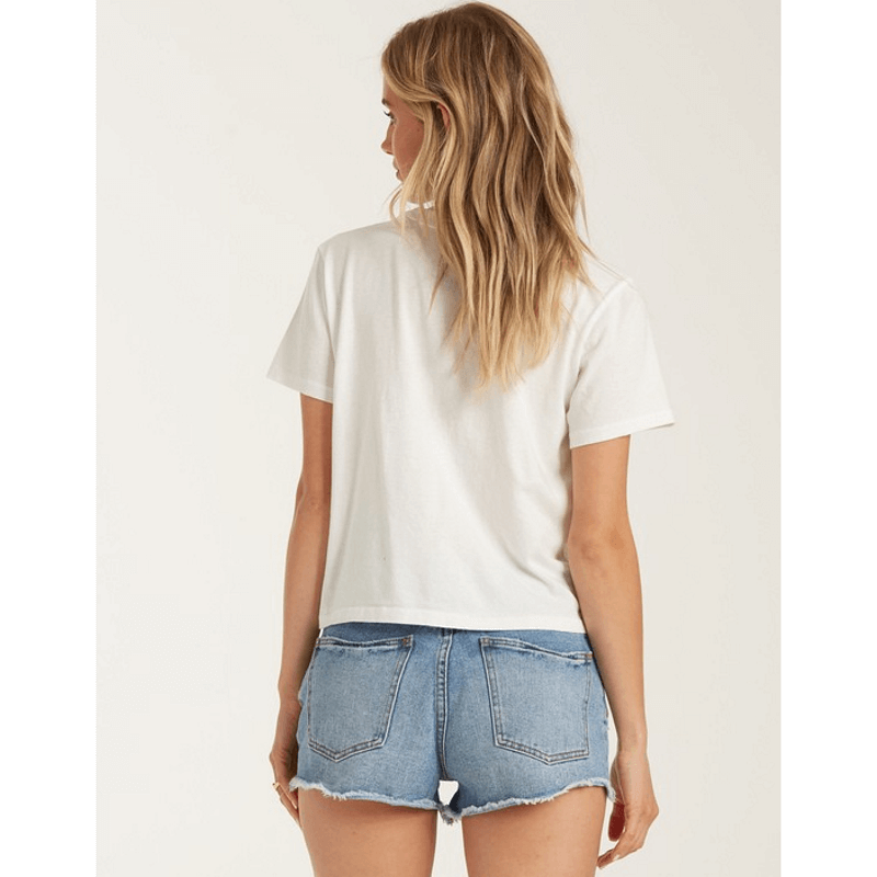billabong womens tee plain on back white
