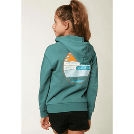 screen printed zip up girls hoodie o'neill