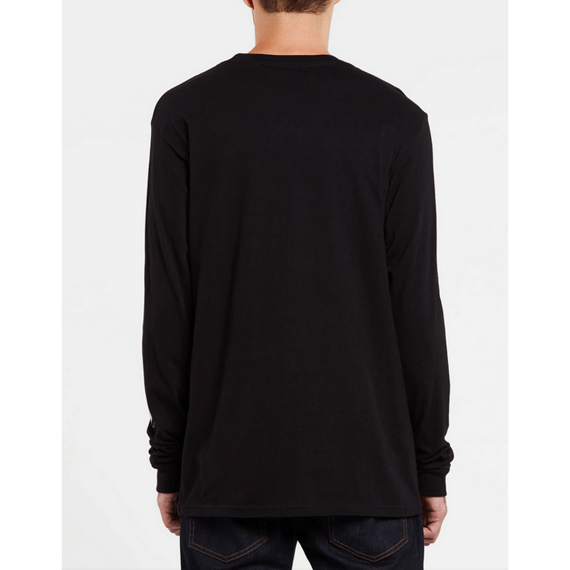 black volcom mens long sleeve tee shirt