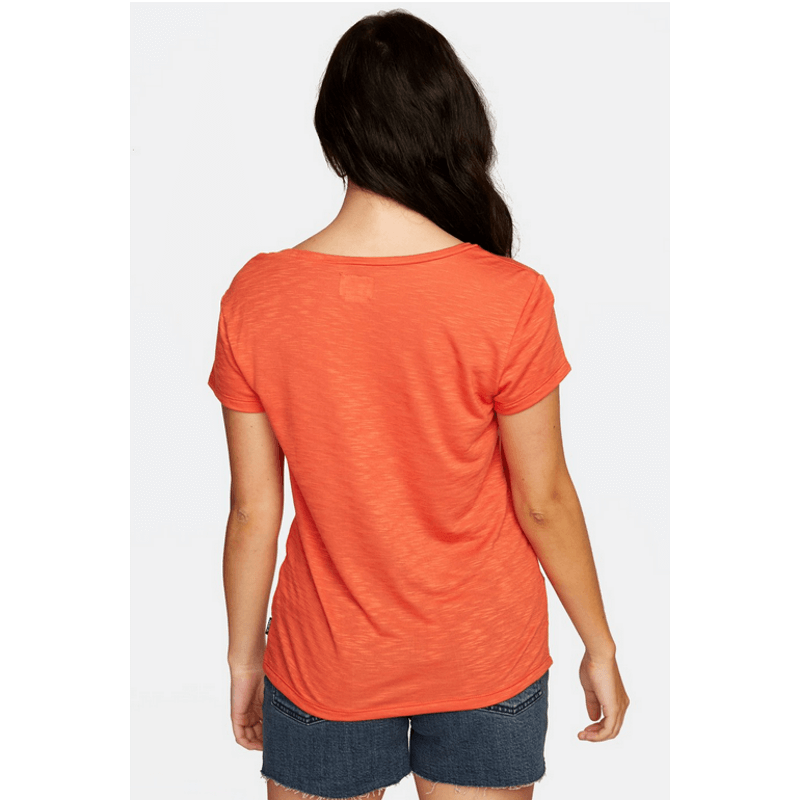 rvca womens paprika short sleeve tee