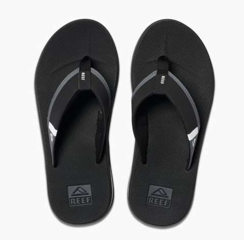 Reef Fanning Low Mens Black/White Sandals