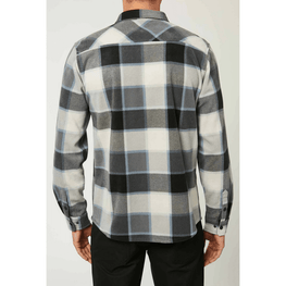 black o'neill mens fleece flannel shirt