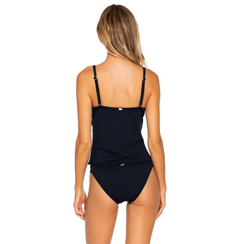 black tankini by sunsets