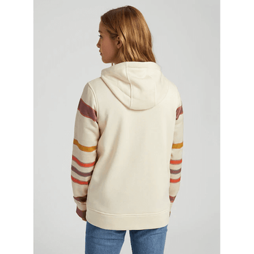 cream stripe burton womens full zip hoodie