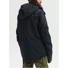breach burton black snow jacket mens