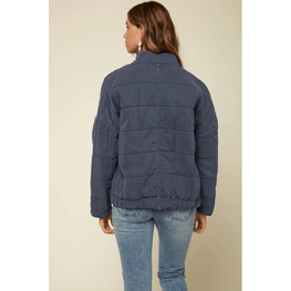 quilted womens blue jacket o'neill