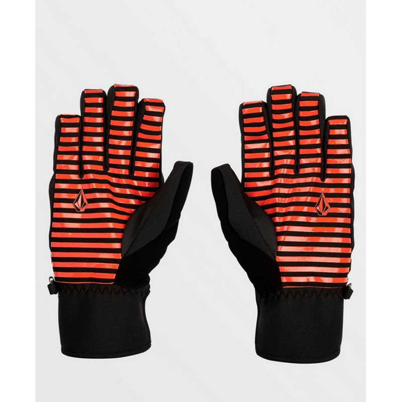 red and black mens volcom snow glove