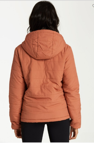 Billabong Transport Puffer Womens Cacao Jacket
