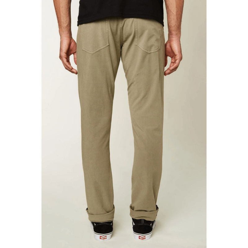oneill khaki street pants with back pockets