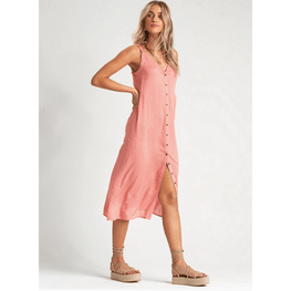 midi dress orange billabong