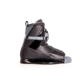 liquid force black and grey wakeboard binding
