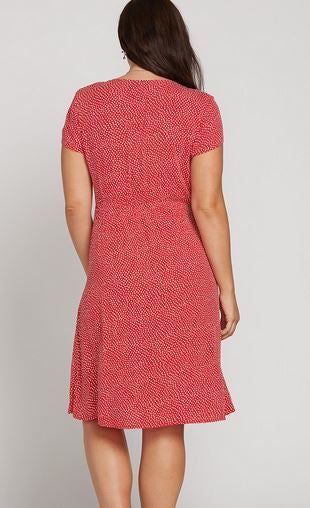 Volcom Boo Tie Womens Red Dot Dress