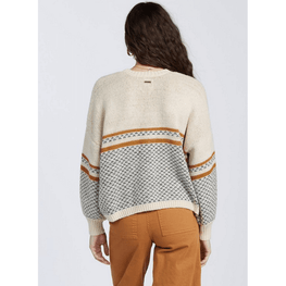 boxy womens billabong wise up sweater