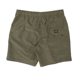 billabong boys slub green boardshorts with back pocket