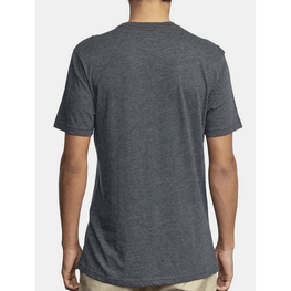 black mens rvca home run tee plain on back
