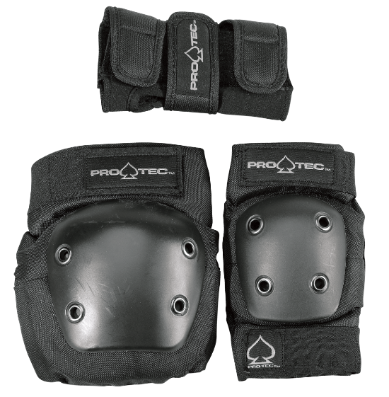 Protec Street Gear 3 Pack Black Youth Pads