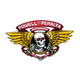 Powell Peralta Winged Ripper 7 Inch Oval Sticker
