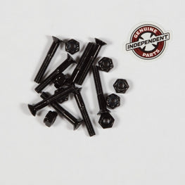 "Independent 1.25"" Black Phillips Head Skateboard Hardware"