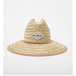 billabong womens straw hat with patch in fromt