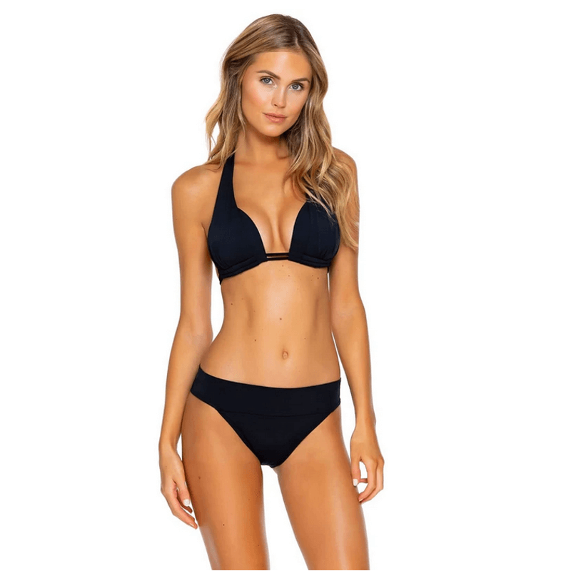 moderate coverage black sunsets swim bottoms
