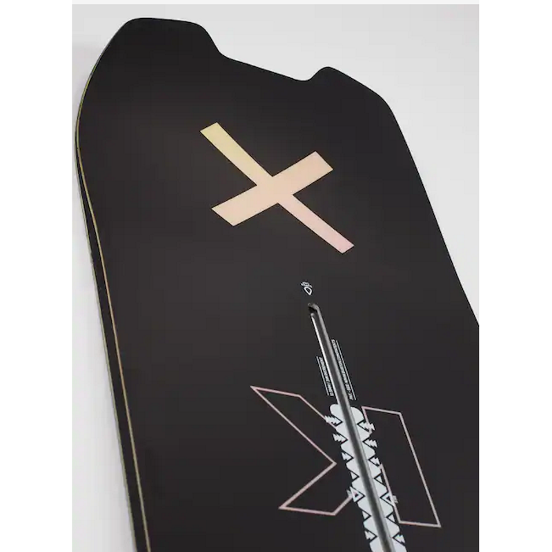 burton skeleton key snowboard tail graphic is an X ltie pink