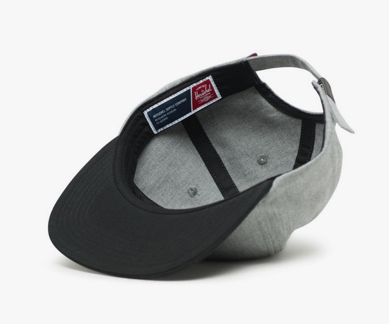Herschel Albert Mens Grey Black Cap