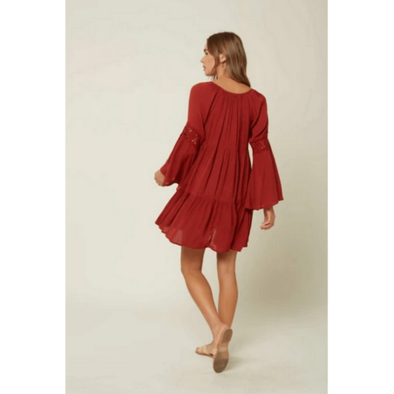 oneill red coverup swim