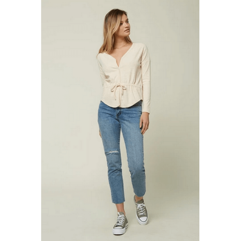 long sleeve knit top o'neill