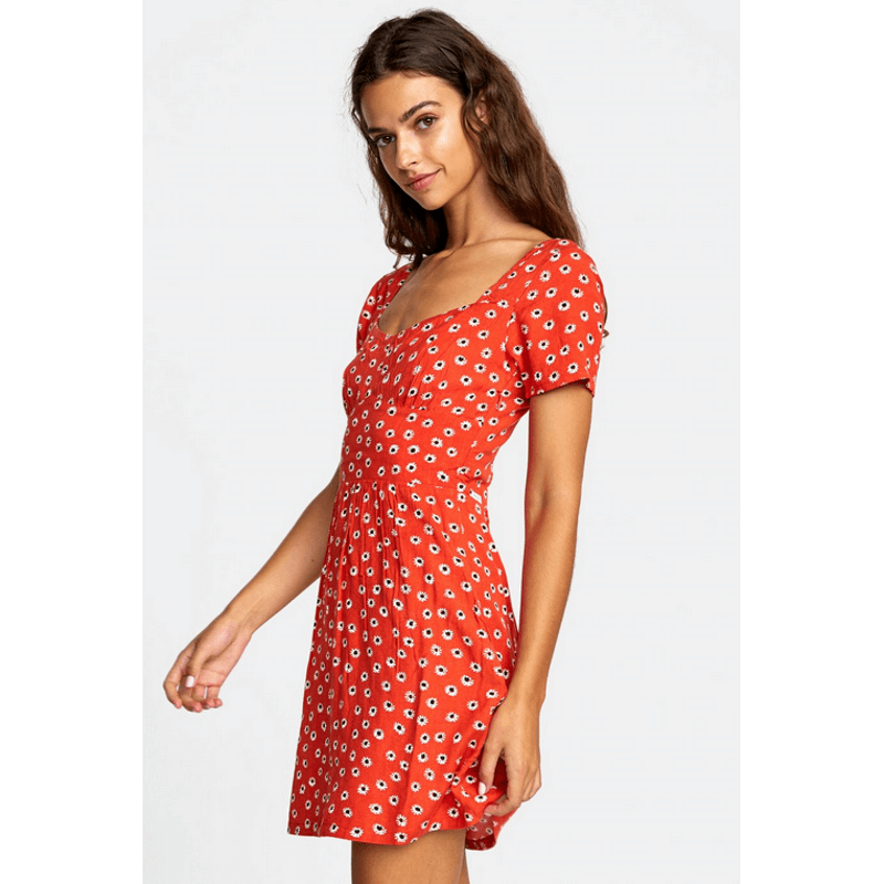 print red dress from rvca