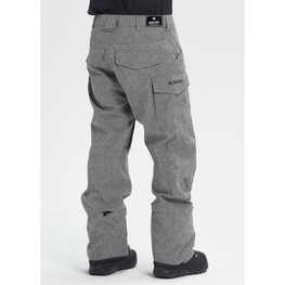 bog heather burton mens snow pants with flap pockets on back