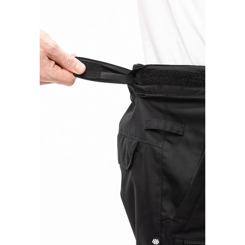 waist adjustment mens black 686 snow pants