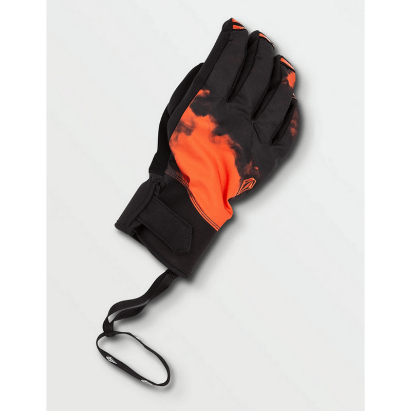 volcom snow glove with leash